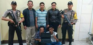 Dua Terduga Curas, Berhasil Dibekuk Team Unit Reskrim Polsek Pringgabaya