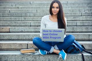 How to choose best Online MBA Program