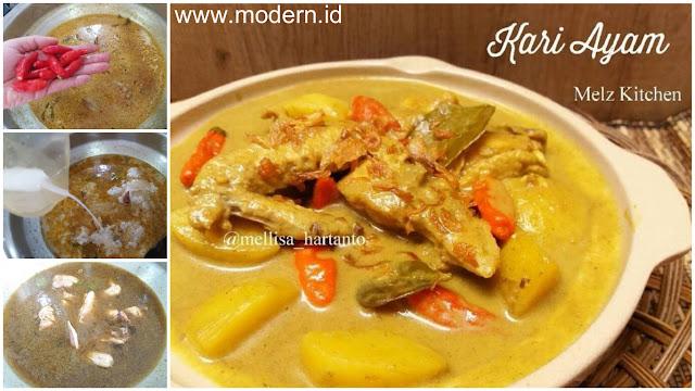 resep kari ayam pedes  gurihnya mantap modernid Resepi Kentang Berkuah Enak dan Mudah