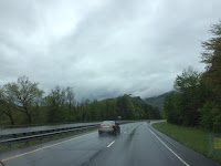 Driving in the Smokies in the rain