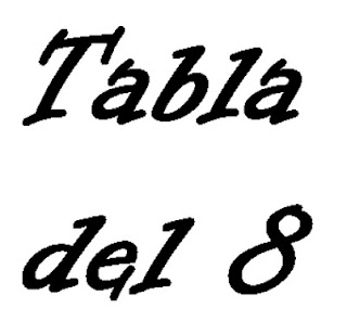 TABLA DEL 8