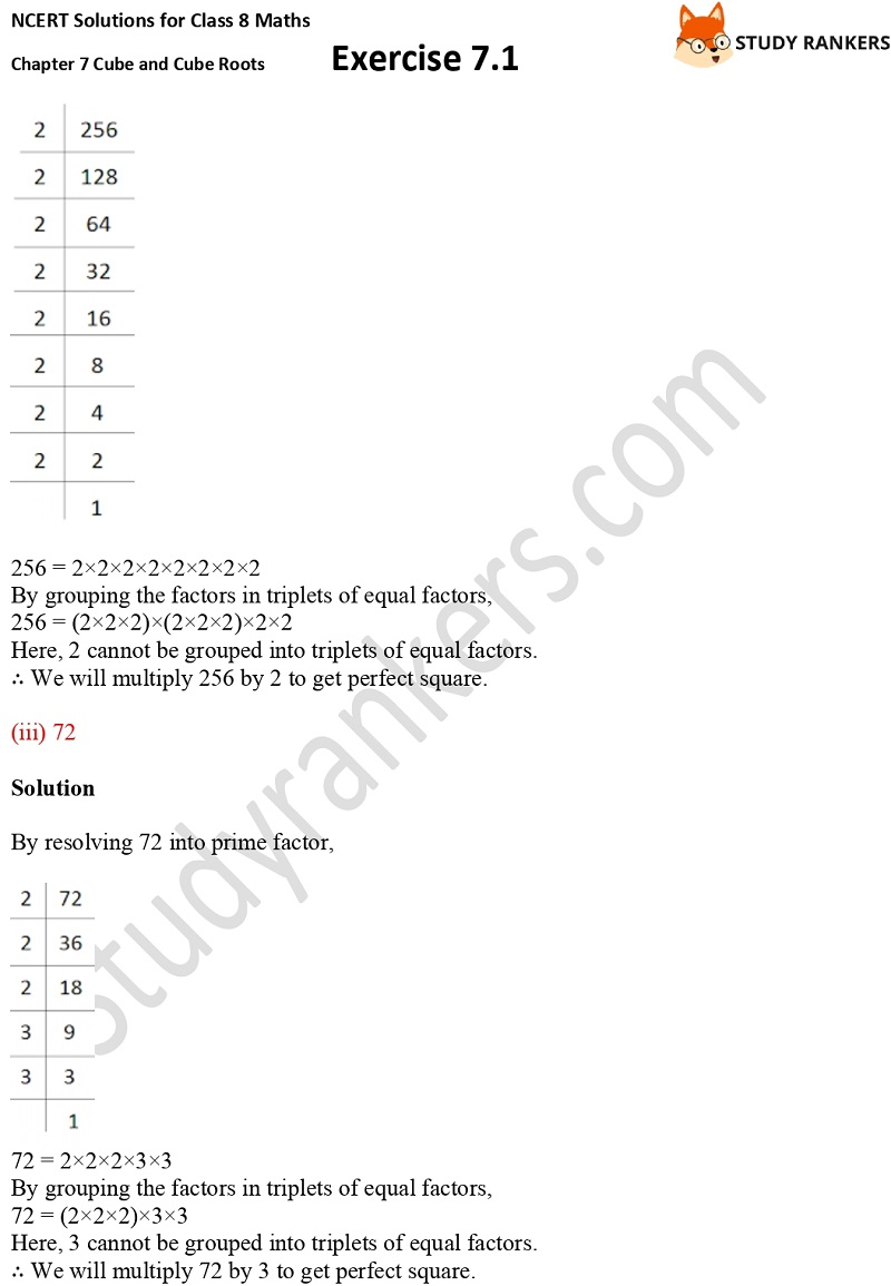 NCERT Solutions for Class 8 Maths Ch 7 Cube and Cube Roots Exercise 7.1 5