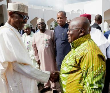 Photos: Nigeria President Buhari receives Nana Akufo-Addo, at the state house in Abuja