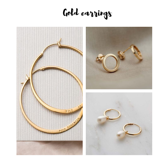 posh totty gold earrings