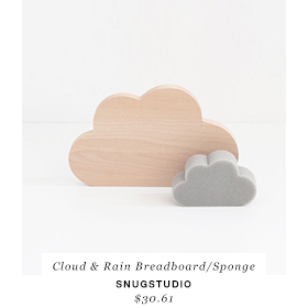 SNUG.CLOUD & RAIN breadboard / sponge