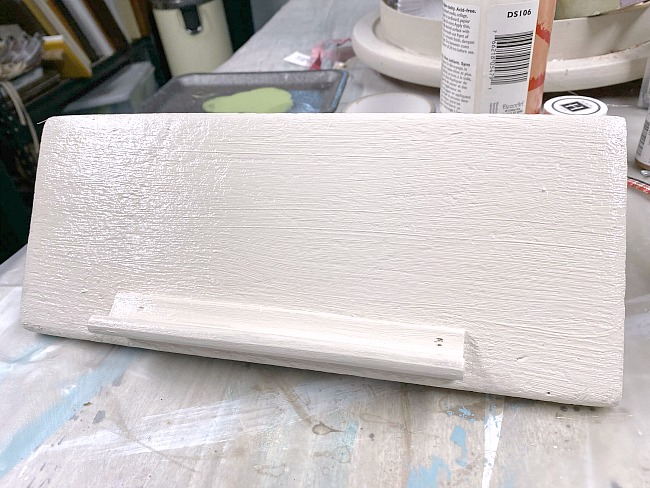 Painted Rustic Farmhouse IPad Stand for a home office