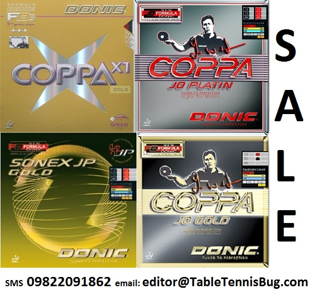 Table Tennis Bug Classic Donic Rubbers Coppa Gold
