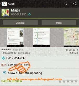 Mematikan Auto Update Aplikasi Android