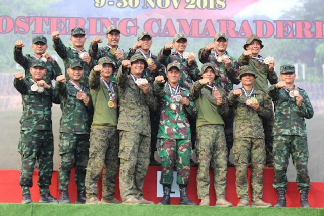Sapu Bersih, TNI AD Sabet 7 Trofi dan 28 Emas AARM 2018 di Malaysia