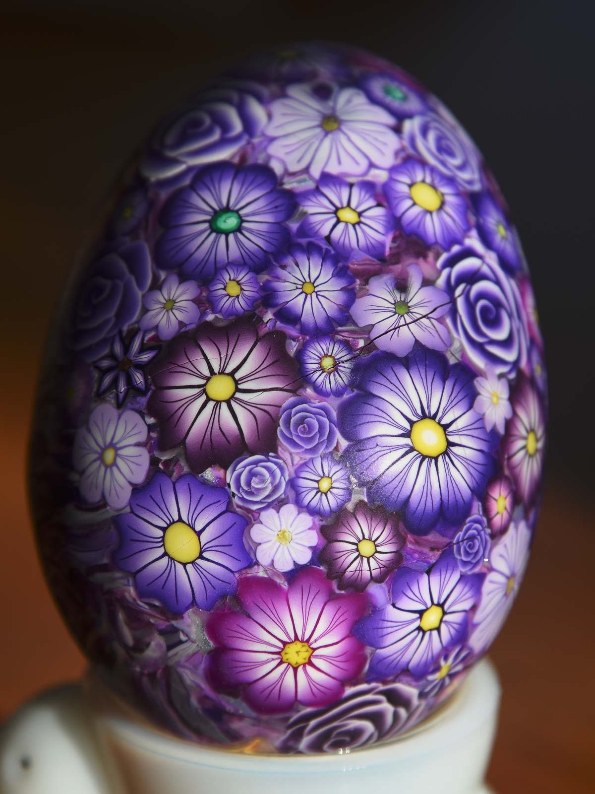 FIMO Polymer Clay Purple Egg