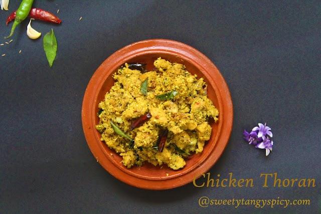 Chicken Thoran recipe   How to Make Kerala Chicken Thoran At Home   Kozhi Thoran Recipe   Kerala Chicken Stir Fry Recipe