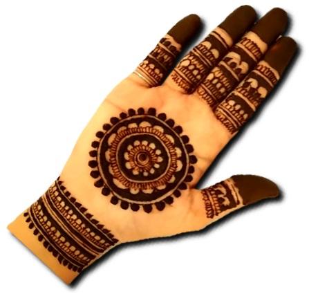Easy Mandala Mehndi Design Front