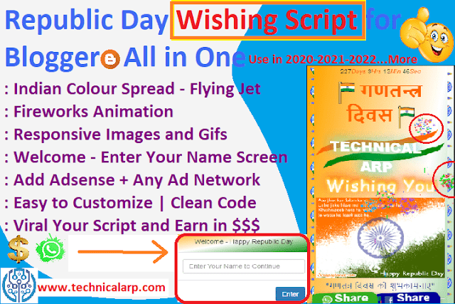 Republic Day WhatsApp Wishing Script Blogger