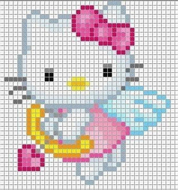 GRAFICOS PUNTO DE CRUZ GRATIS : HELLO KITTY(59)