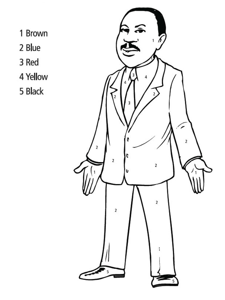 Martin Luther King Jr Coloring Pages | Realistic Coloring ...
