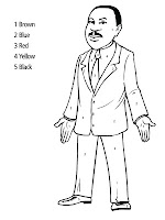Martin Luther King Jr Printable Kids Coloring Pages