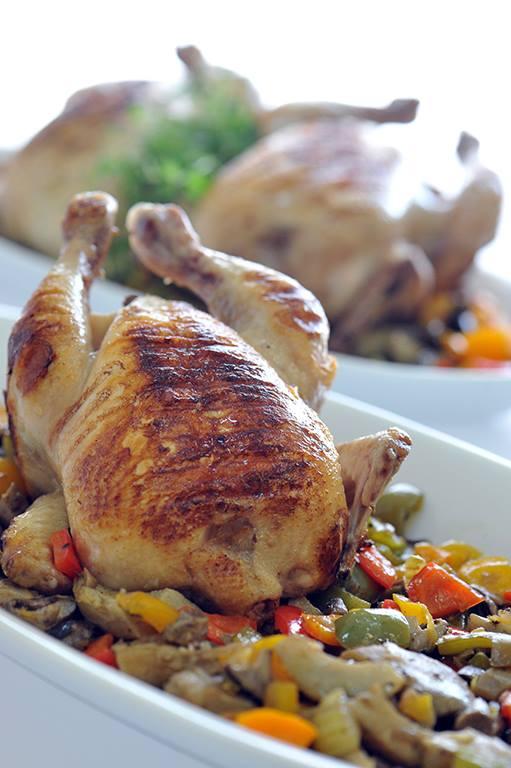 دجاج مسلوق ومشوي