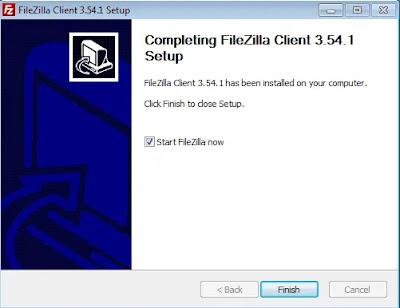 Finish Install FileZilla