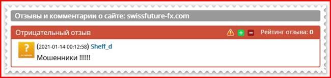 SwissFutureFX – отзывы о брокере?
