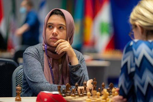 Shahenda Wafa (2106) a poussé Almira Schripchenko (2411) dans ses retranchements - Photo © Eric Rosen
