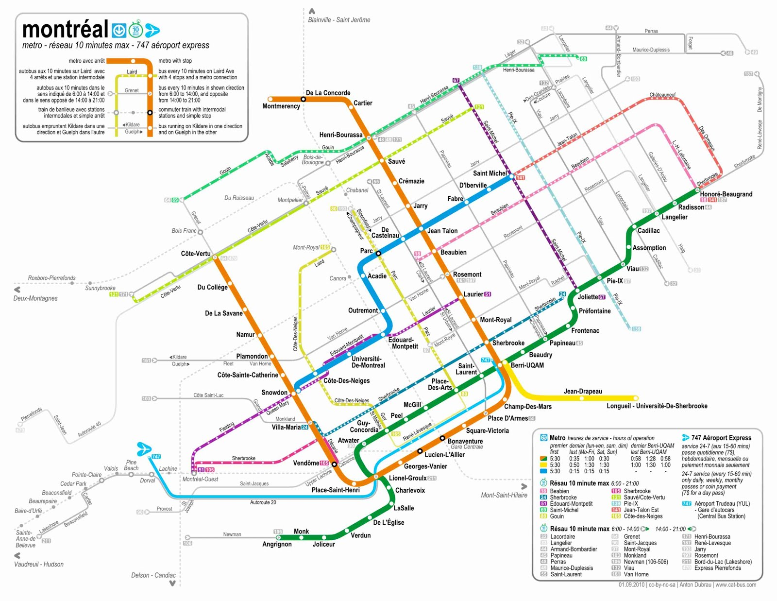 Mapas De Montreal Canad 225 Mapasblog