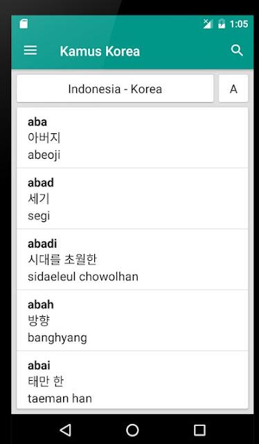 Kamus Bahasa korea Offline