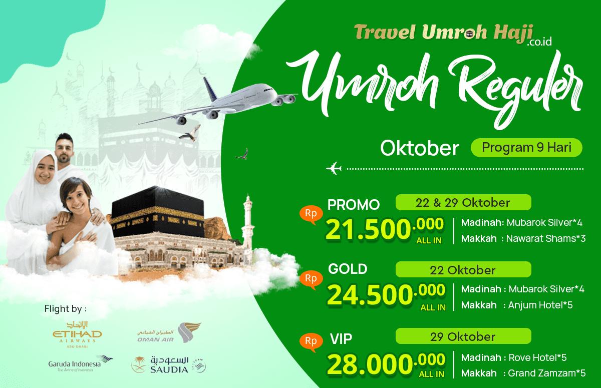 Promo Paket Umroh Biaya Murah Jadwal Bulan Oktober 2019