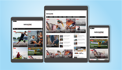MaxaZine Template Blogger Responsive Free Download
