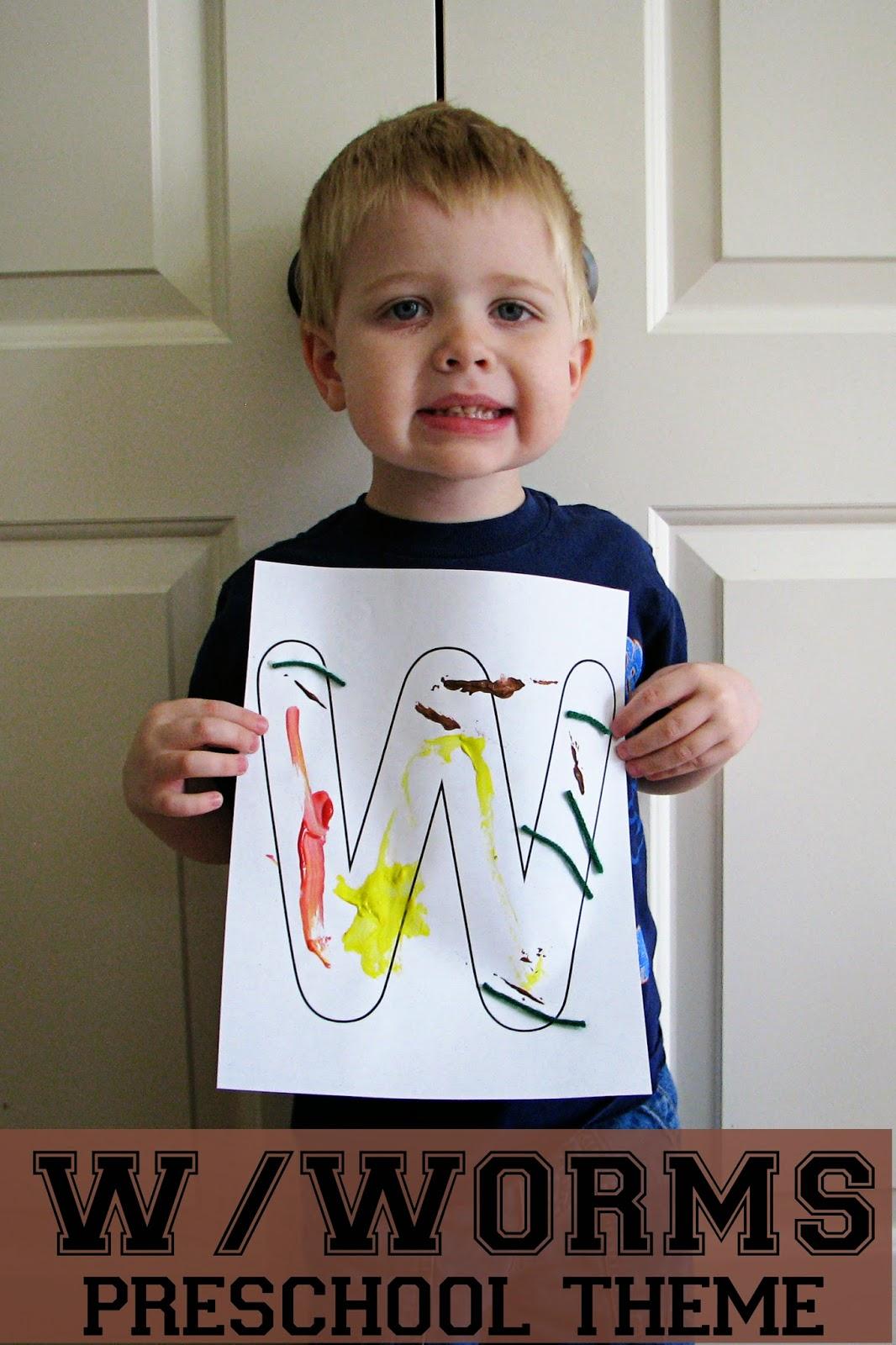 Mommy S Little Helper Letter W Worms Preschool Theme