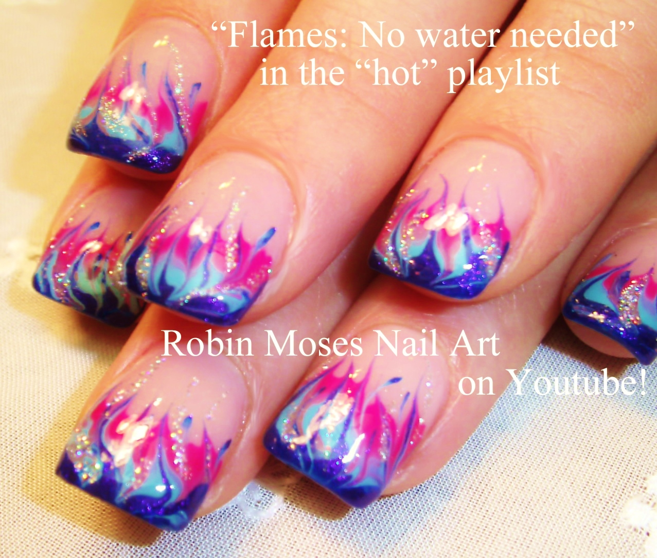 Robin Moses Nail Art: Neon Rainbow Nails Done With No