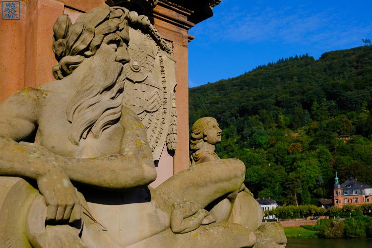 Le Chameau Bleu - Blog Voyage Heildeberg Allemagne - Détail du vieux pont d'Heidelberg Allemagne