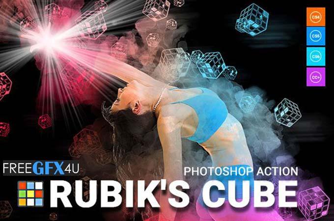 Rubiks Cube Photoshop Action