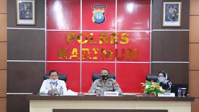 Demi Layanan Prima pembangunan Zona Integritas menuju WBK dan WBBM, Puluhan Personel Polres Karimun mendapat Pelatihan dari Bank BRI