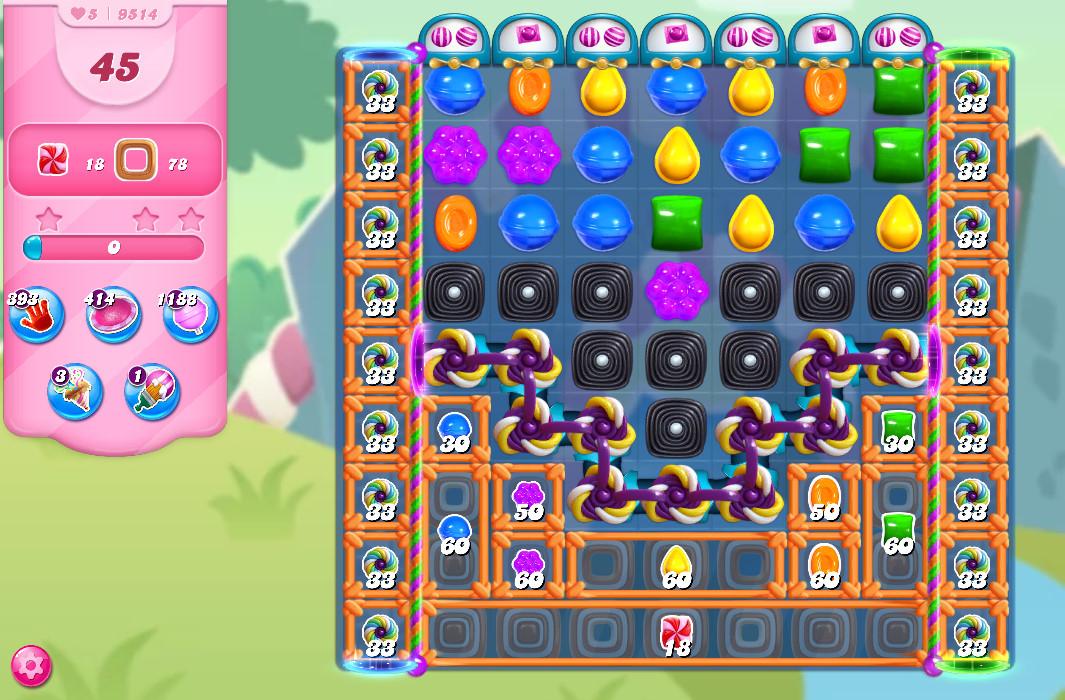 Candy Crush Saga level 9514