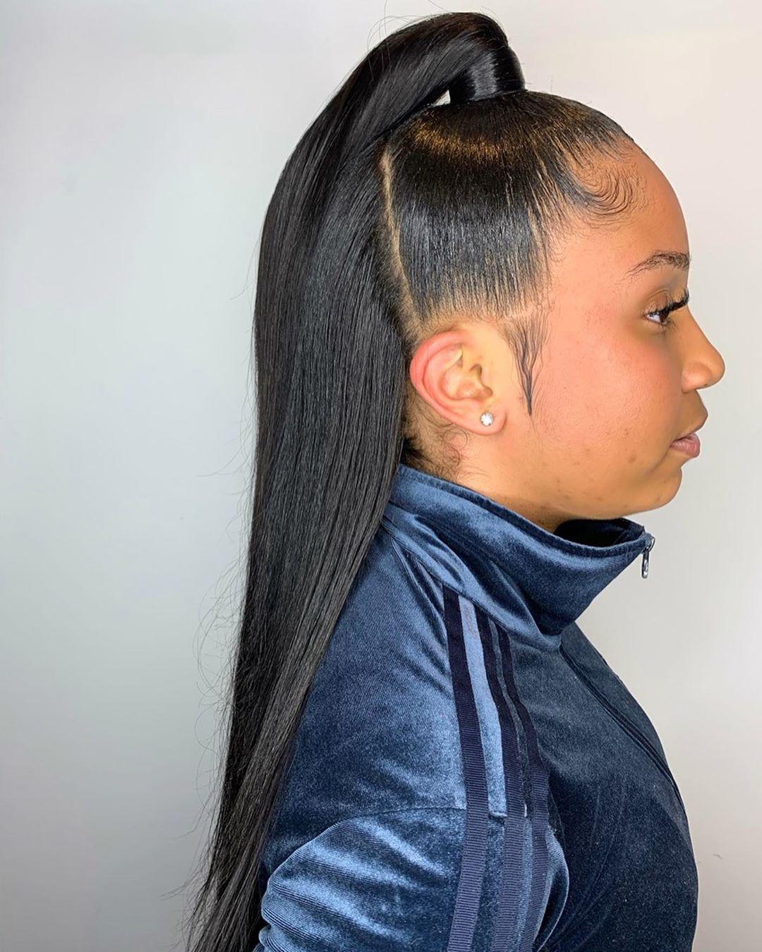 9+ Creative Ways To Make Black Sleek Ponytail Hairstyles in 9 ...