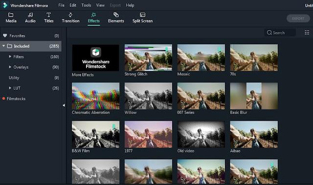Wondershare Filmora Video Editing Software Editing UI
