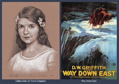 Lillian Gish. Silent Film Actress. Way Down East. D.W. Griffith. by Travis Simpkins