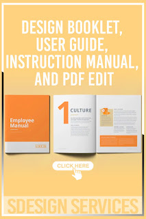 Professional CREATIVE manual design booklet, user guide, instruction manual, PDF edit