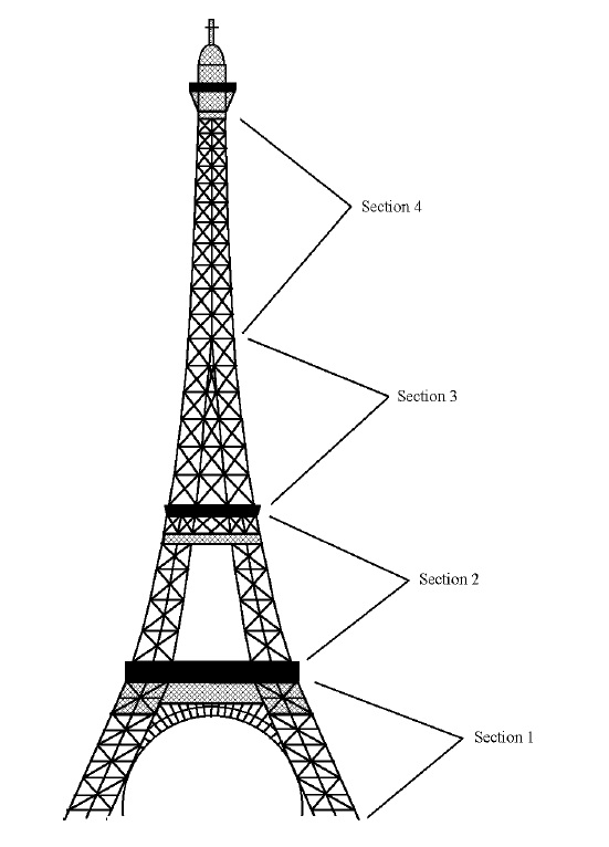 Cake that inc eiffel tower cake topper tutorial for Eiffel tower model template