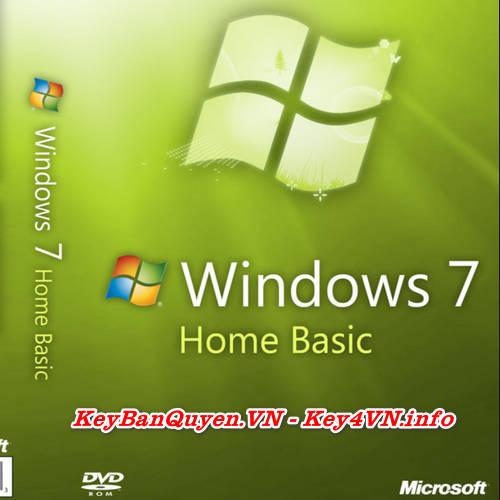 Mua bán key bản quyền Windows 7 Home Basic .