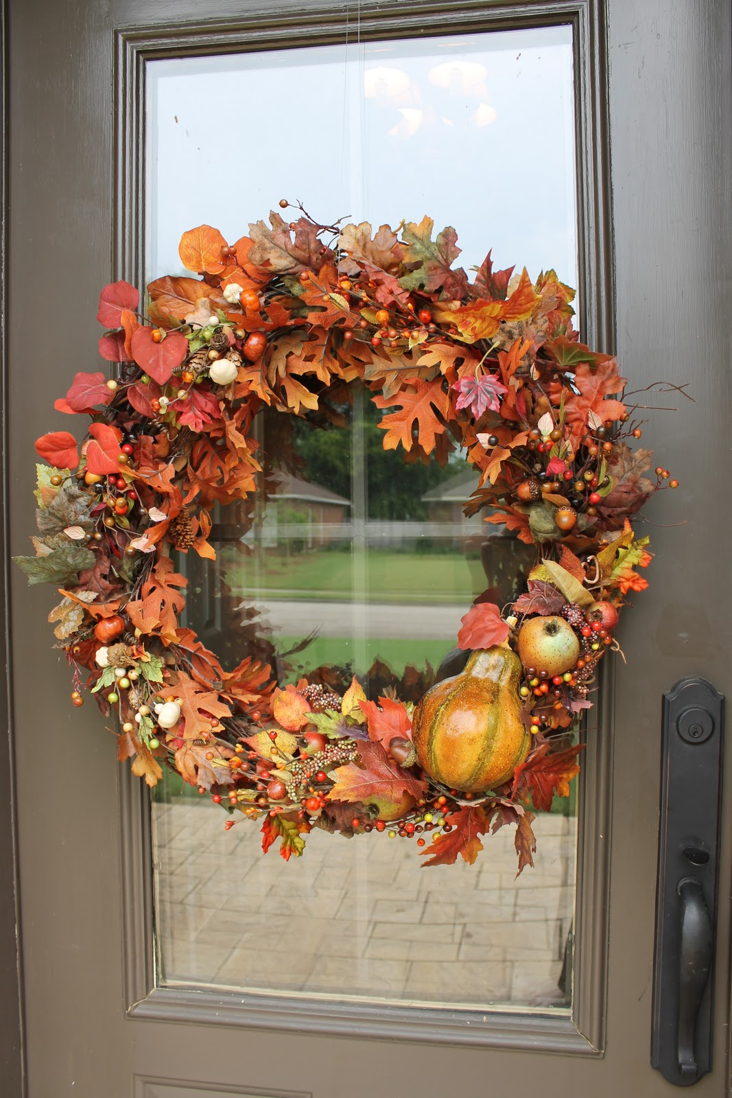 Simple Fall Wreath: Miss Kopy Kat: Easy Autumn Wreath