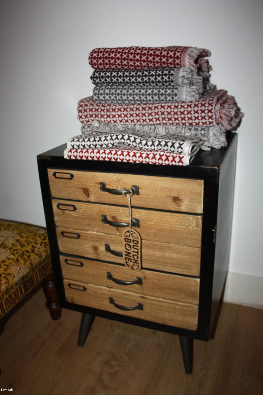 tabouret indien block stool Dutchbone