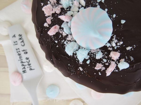 Schoko Törtchen mit Pastell Baiser, Layer Cake with Merinuges, rehlein backt