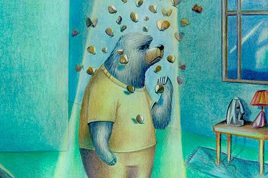 Ilustración, l'orso ei marcchingegni de Alejandro Uscategui