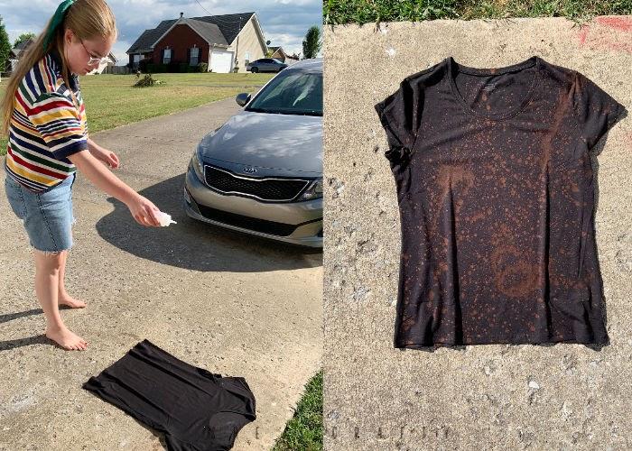 Summer Activities - Bucket List - Ideas to do at Home - bleach tie dye