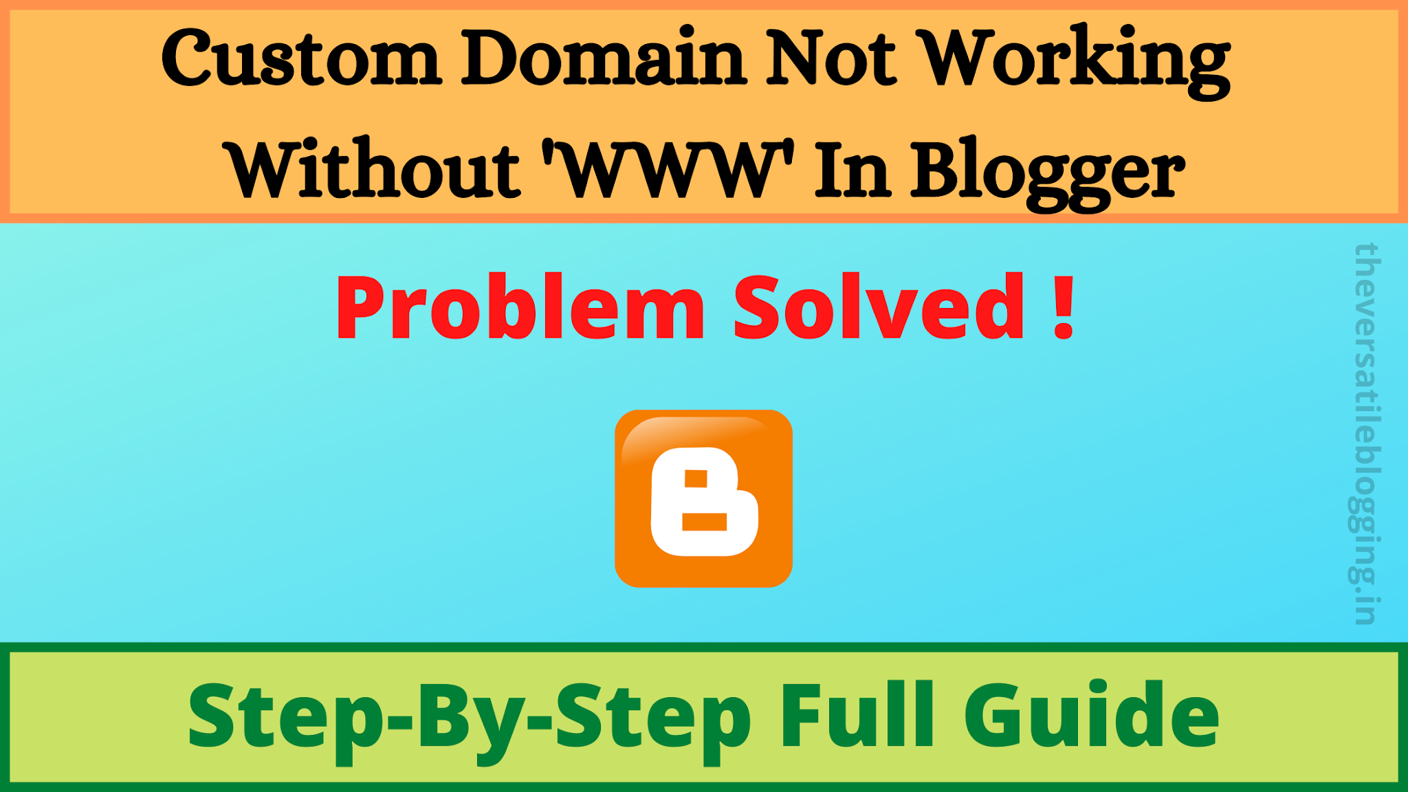 [Latest 2020] Fix Custom Domain Not Working Without 'www' In Blogger