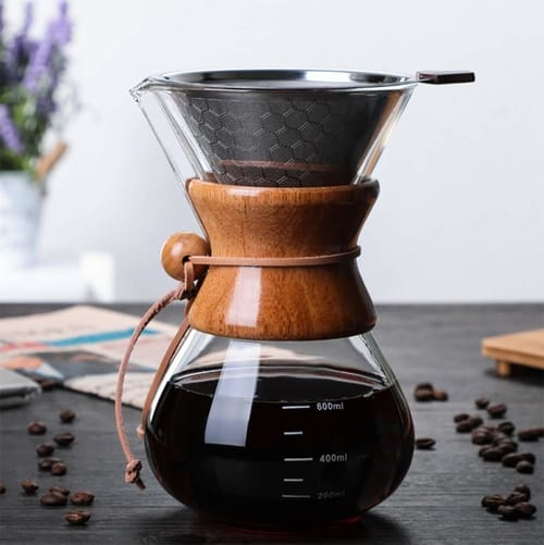 BicycleStore Paperless Glass Carafe Coffee Maker