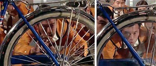 ムラマツキャップの実験①高速で車輪を回転すると見通せるようになる