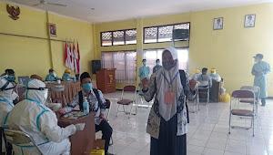 Polsek Cikancung Polresta Bandung Kawal 174 Anggota PPS di Rapidtest