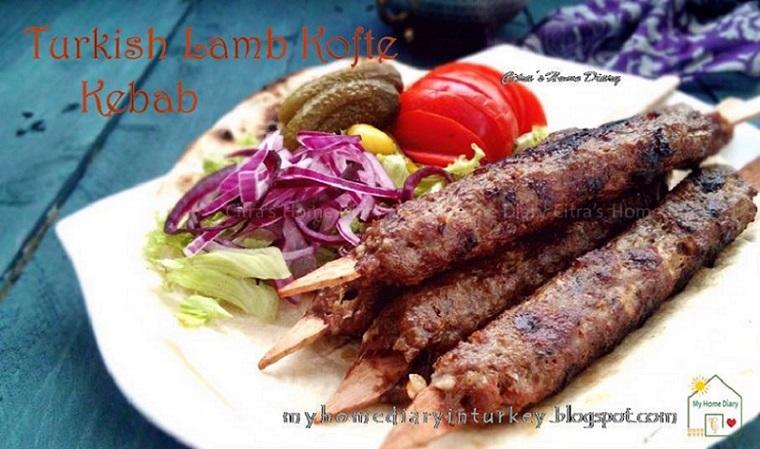 Köfte Kebabı / Turkish lamb Kofta (meatball) Kebab, authentic and best recipe. Köfte or Kofta is definitely everyone's number one favorite here. As kebab, köfte is like staple and almost everyday meal for local. Men women adult to toddler.  And just like kebab, köfte has many variant base on meat used and its origin. | Çitra's Home Diary. #kofte #lambkofta #lambkebab #turkishfood #resepkoftekhasturki #meatball #midleeast #grilled #groundmeat #resepkhasturki #koftakebab #resepmasakanturki